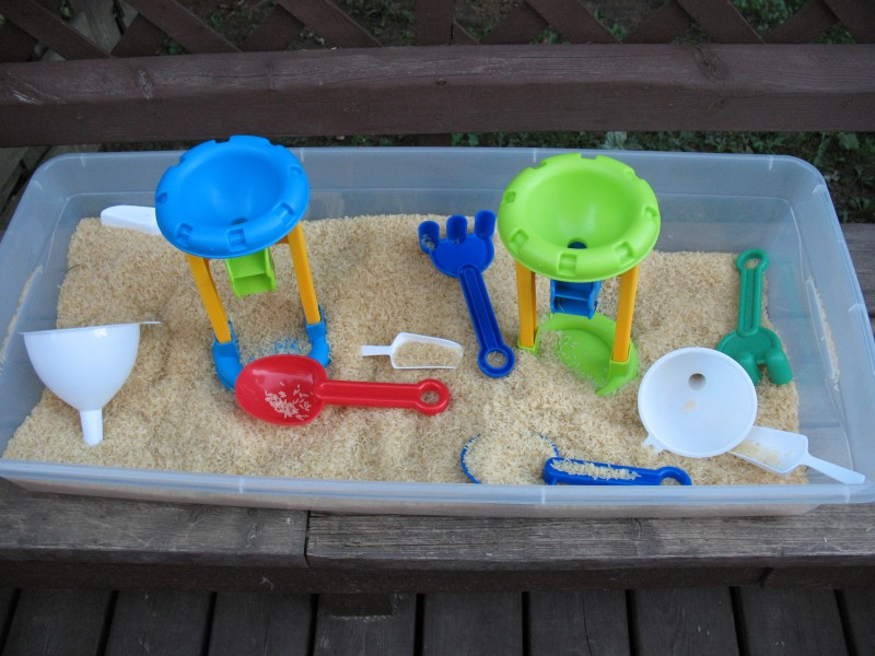Backyard Sensory bins
